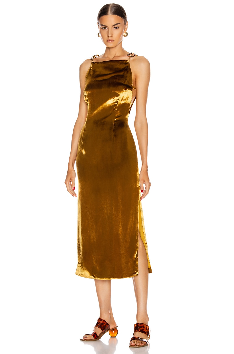 Image 1 of Cult Gaia Mina Dress in Gold