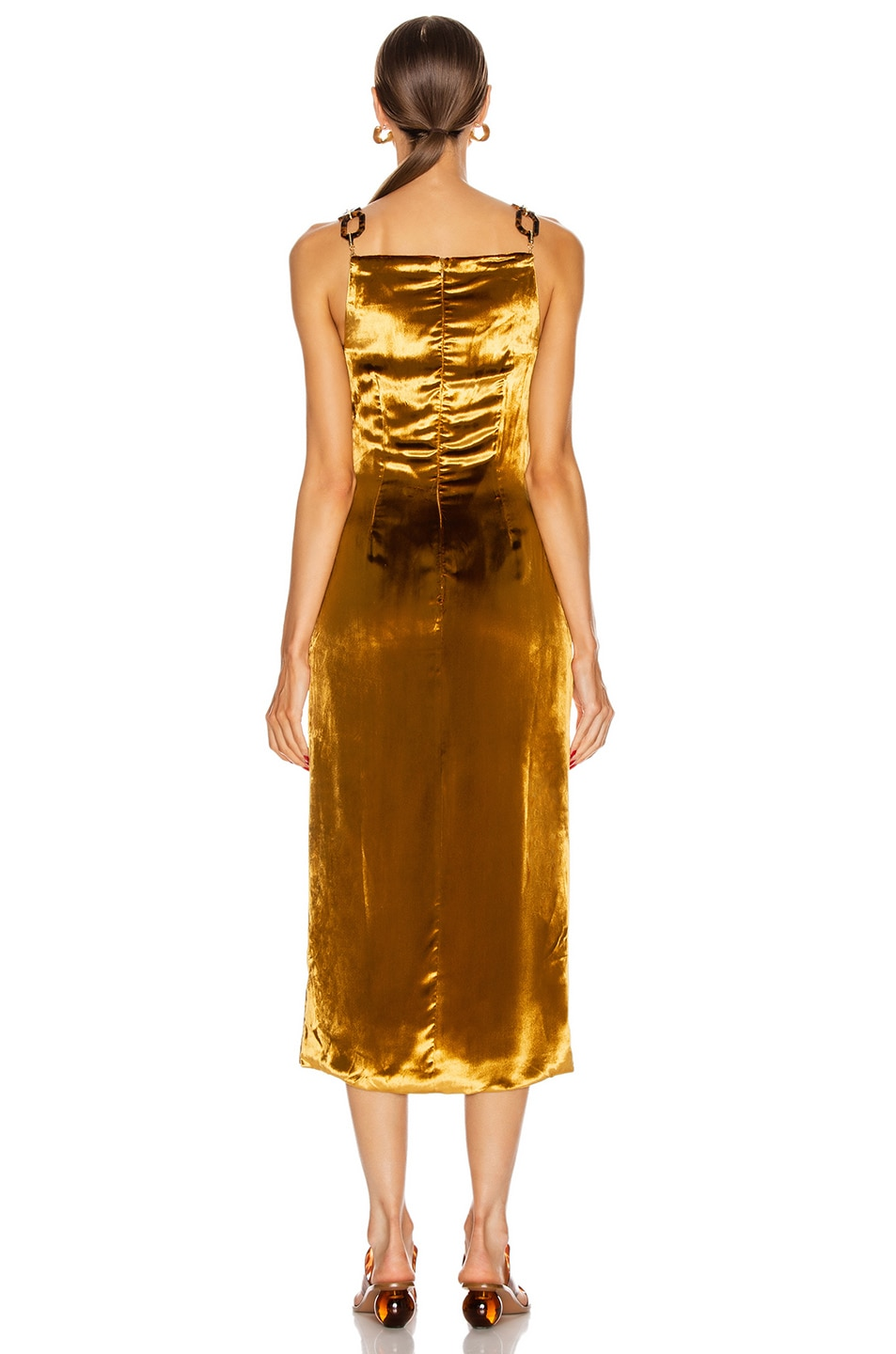Image 3 of Cult Gaia Mina Dress in Gold