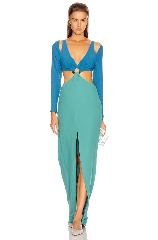 Image 1 of Cult Gaia Priya Dress in Seafoam