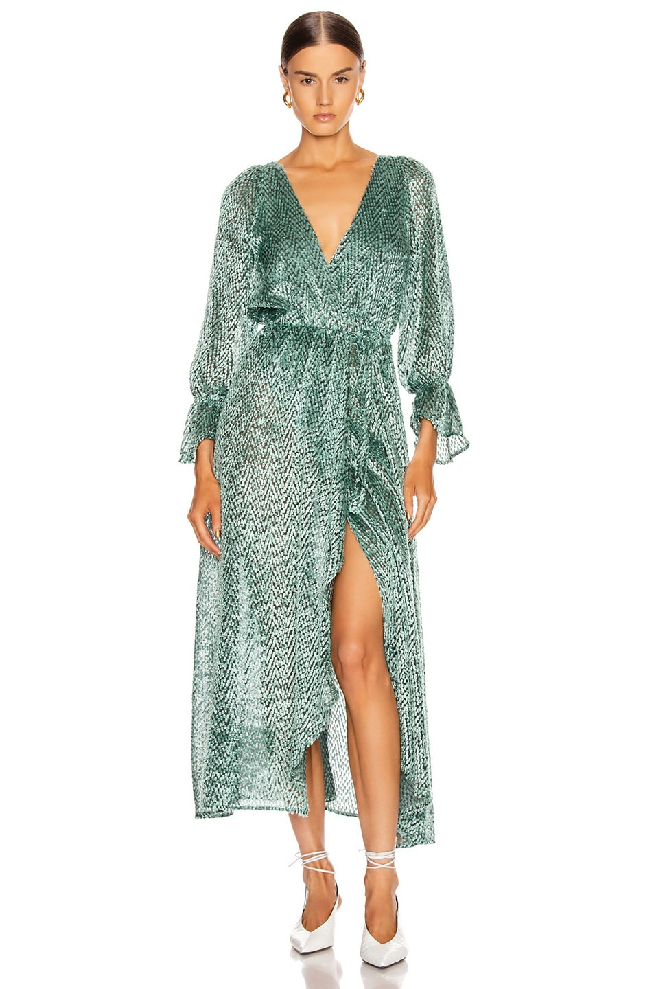 Image 1 of Cult Gaia Oona Dress in Seafoam