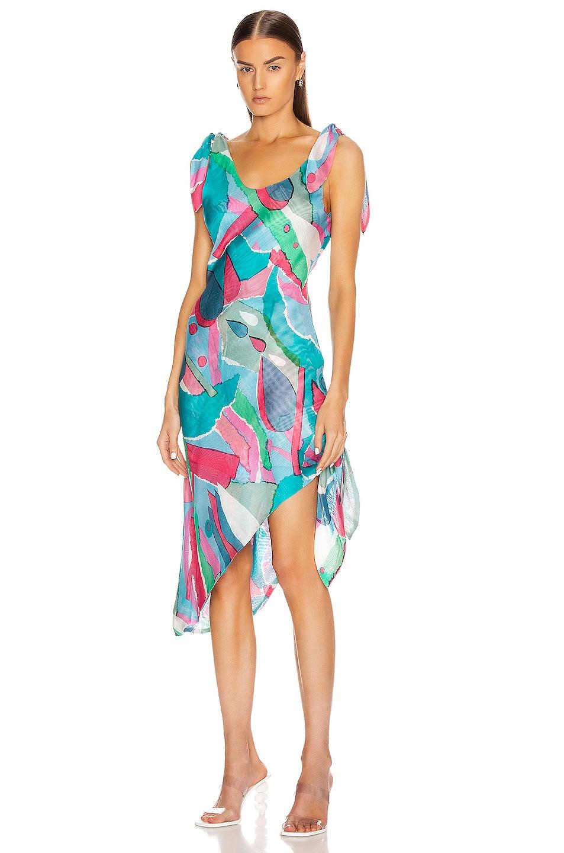Image 1 of Cult Gaia Delilah Dress in Surf Multi
