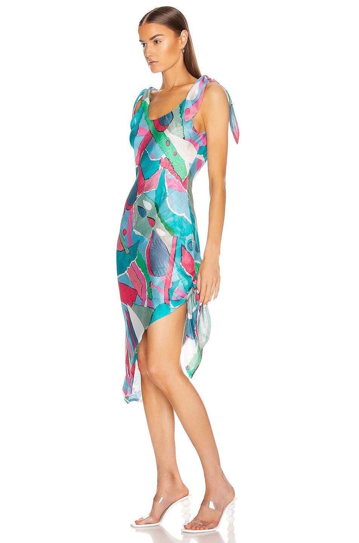 Image 3 of Cult Gaia Delilah Dress in Surf Multi