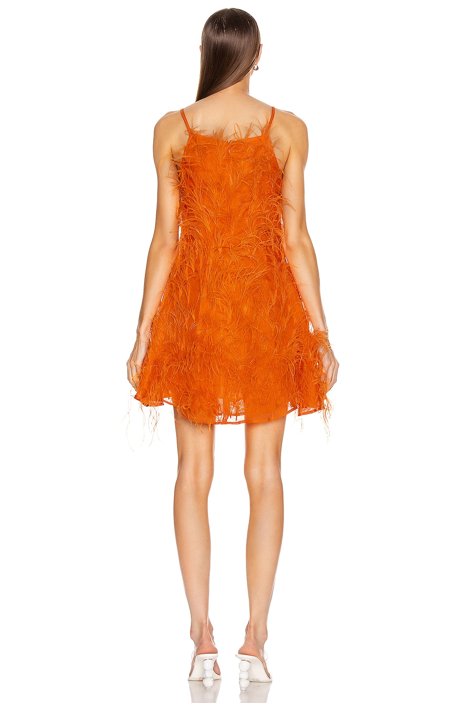 Image 3 of Cult Gaia Shannon Dress in Coral