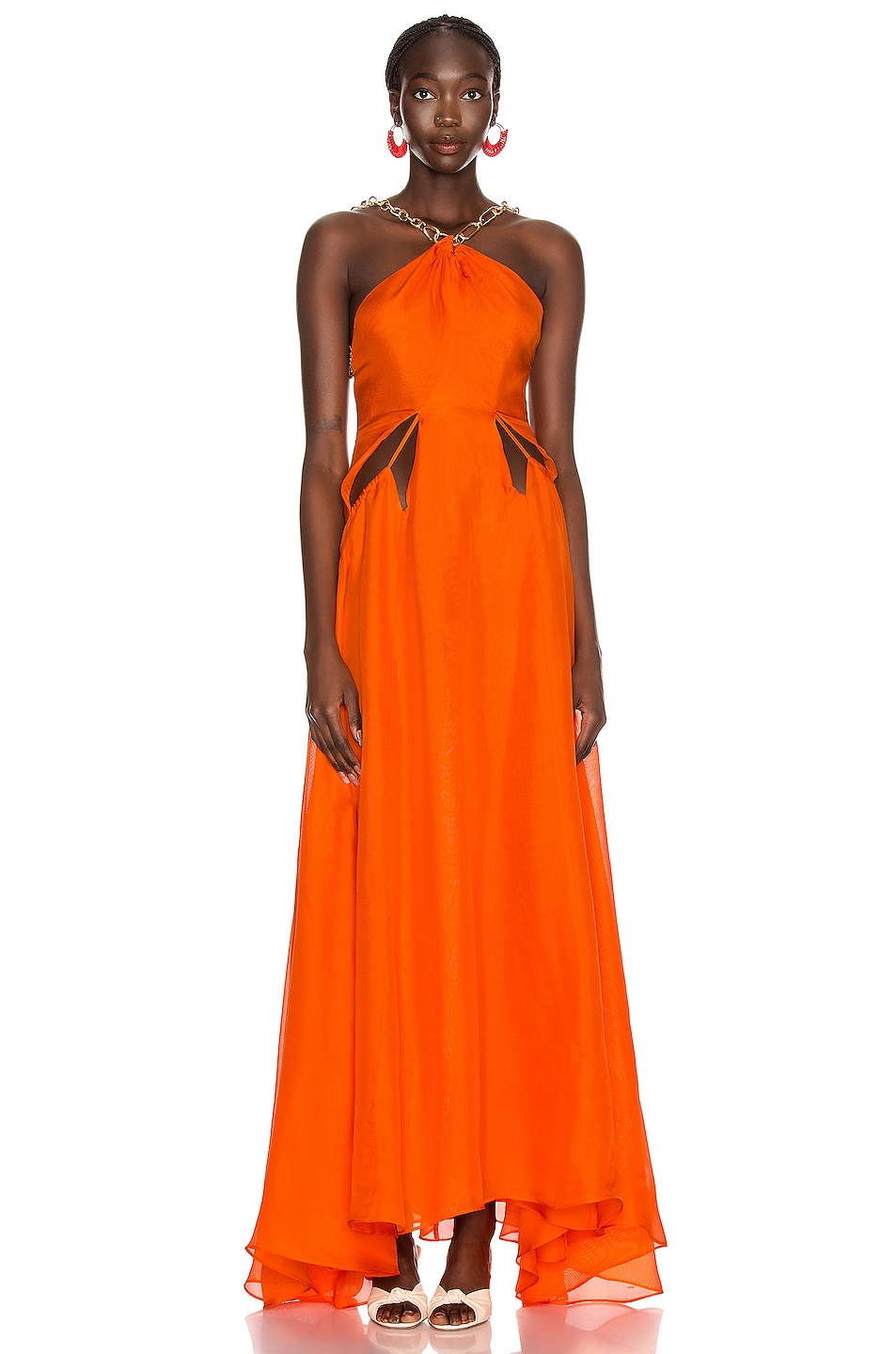 Image 1 of Cult Gaia Althea Dress in Coral