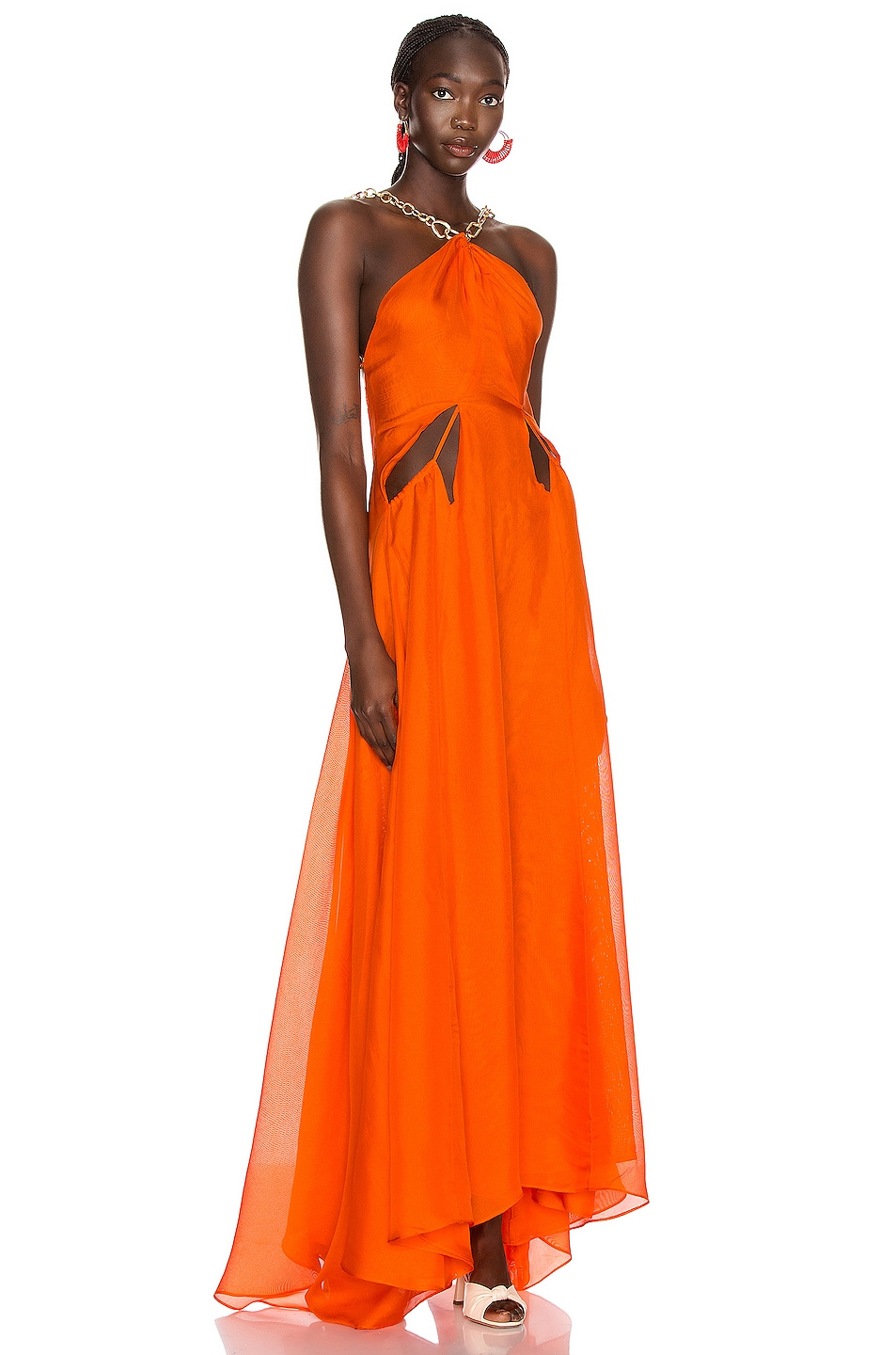 Image 2 of Cult Gaia Althea Dress in Coral