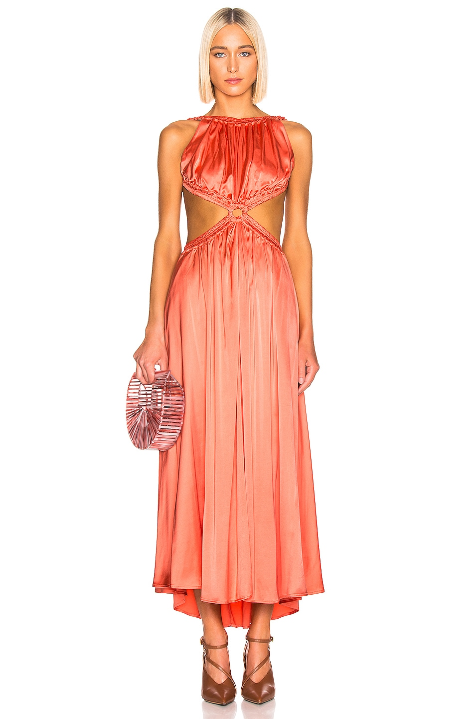 Image 1 of Cult Gaia Theia Dress in Melon