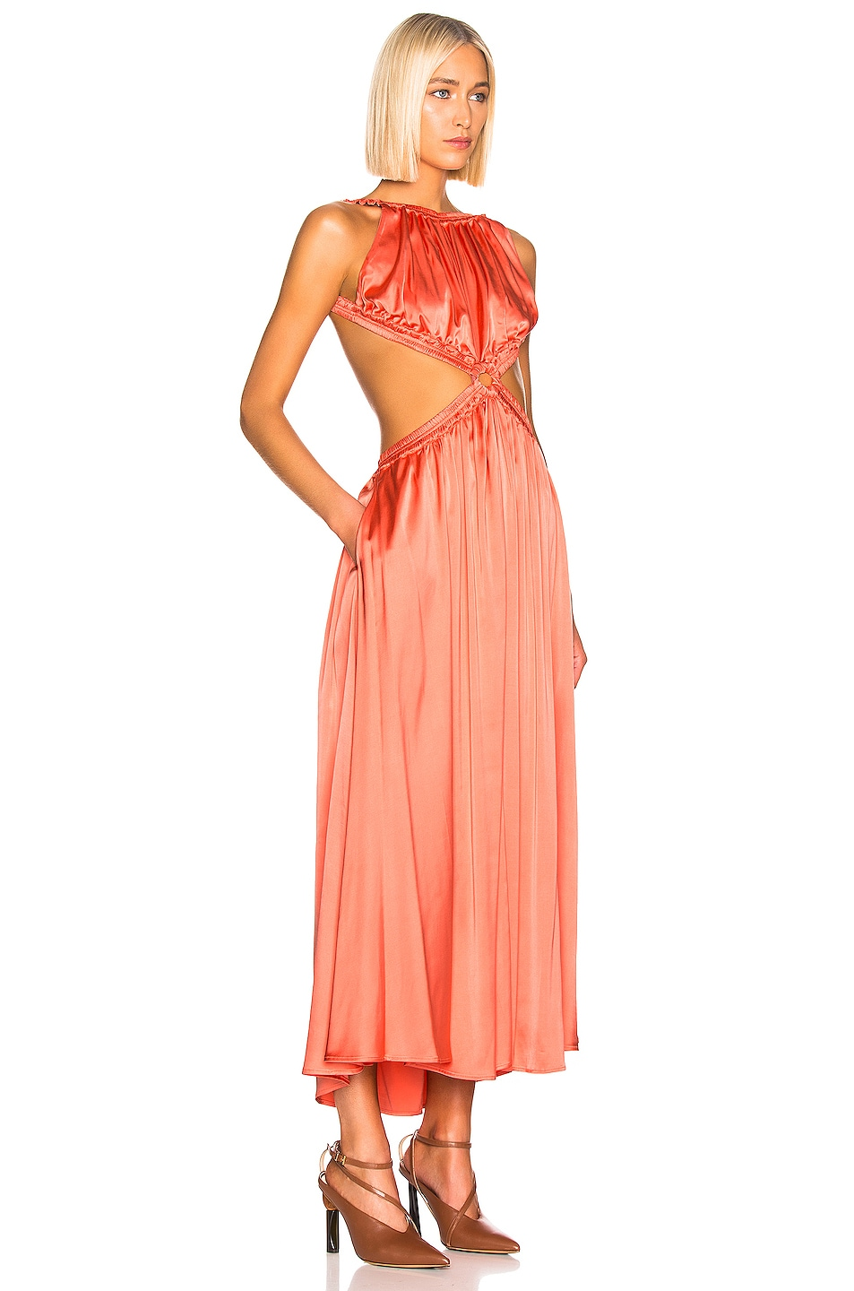 Image 2 of Cult Gaia Theia Dress in Melon