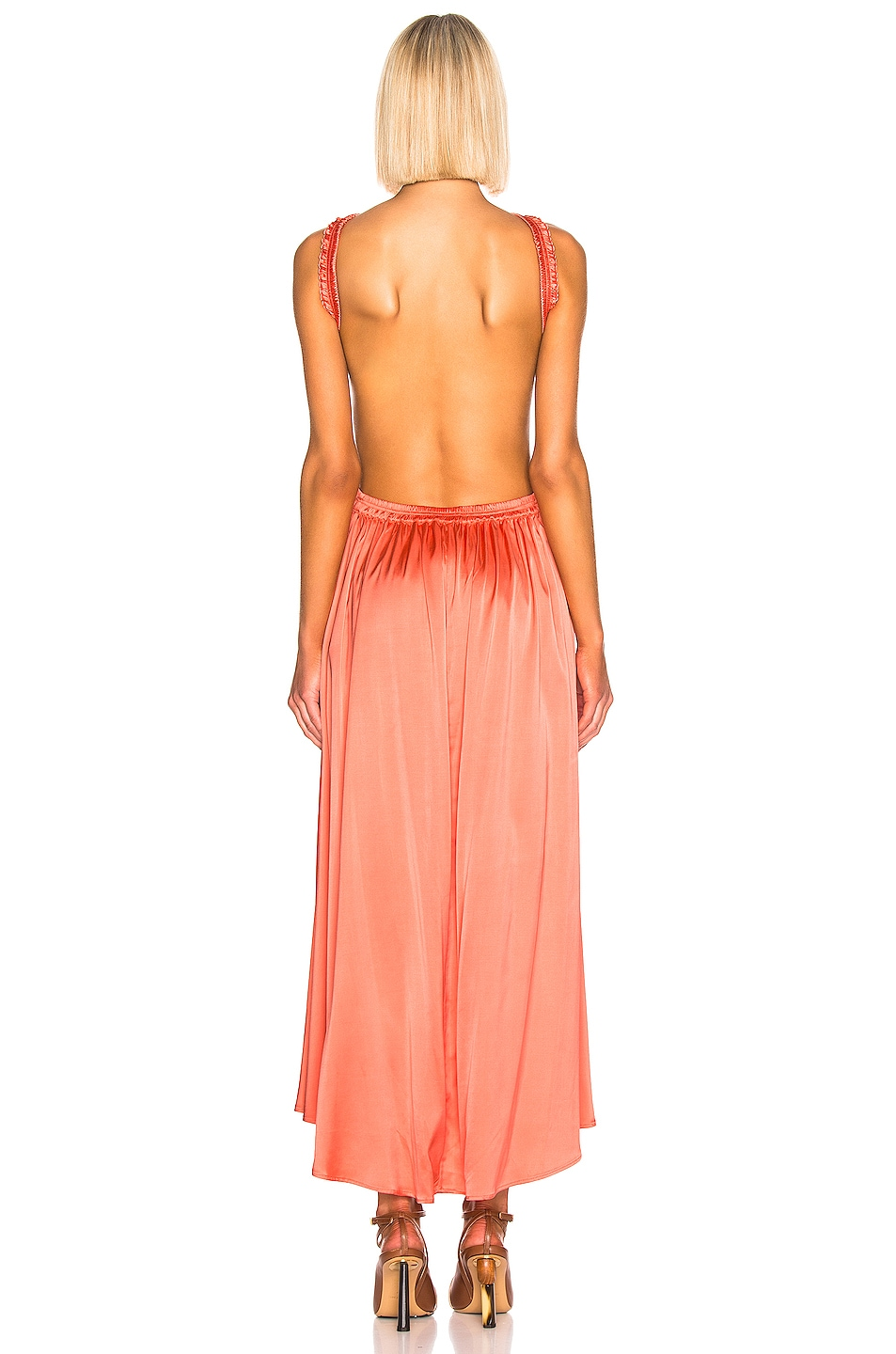 Image 3 of Cult Gaia Theia Dress in Melon