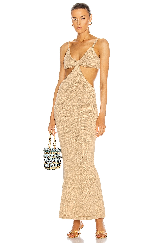 Image 1 of Cult Gaia Serita Knit Dress in Sand