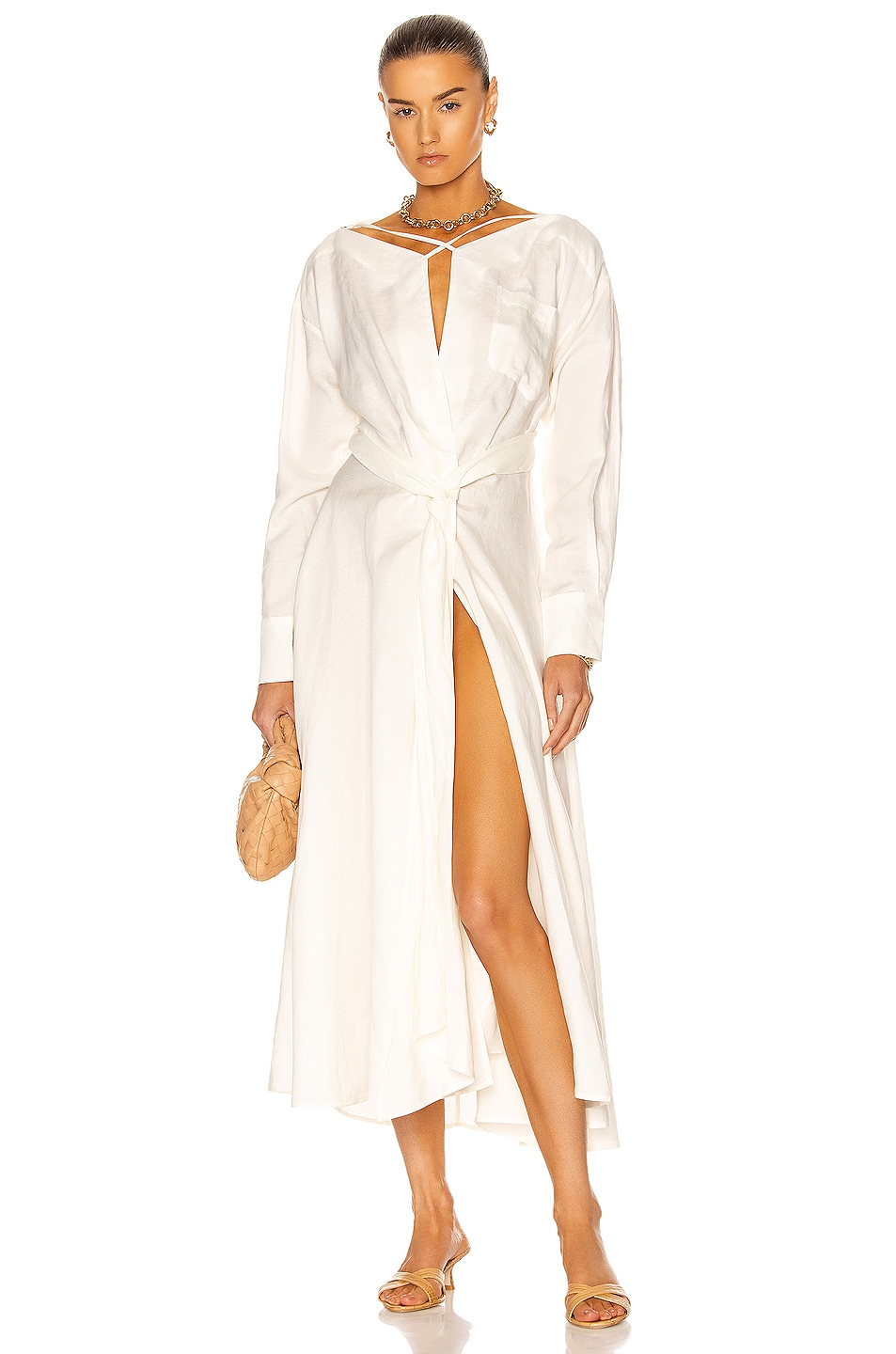 Image 1 of Cult Gaia Willa Dress in Off White