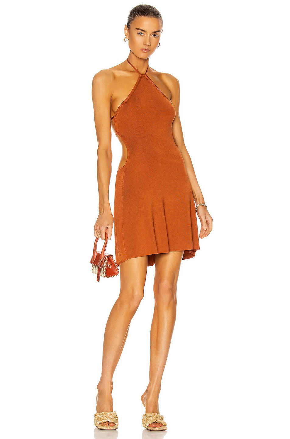 Image 1 of Cult Gaia Leslie Knit Dress in Spice