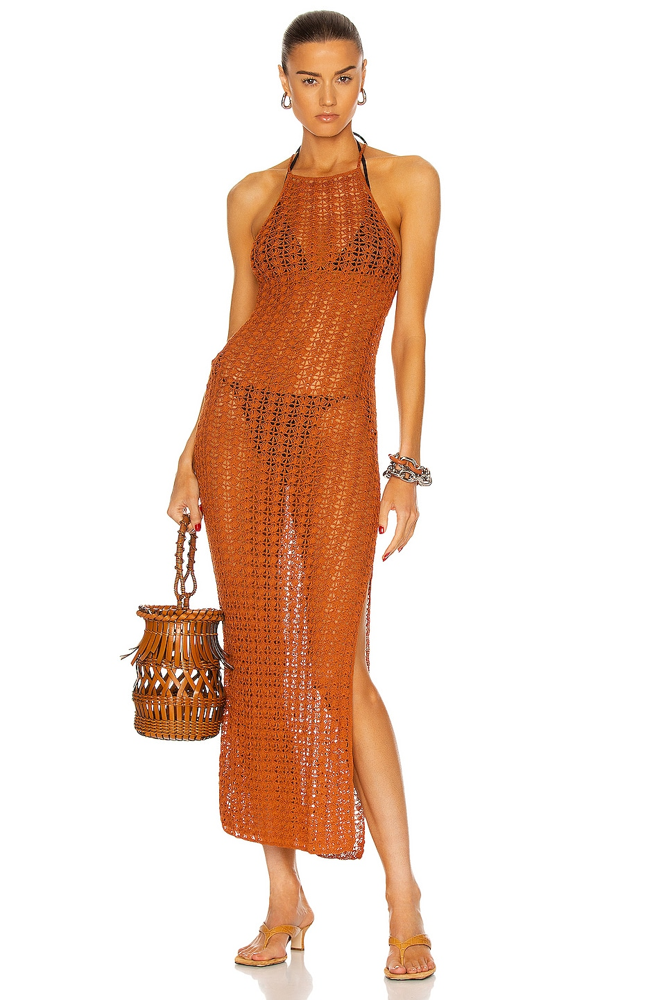 Image 1 of Cult Gaia Demi Knit Dress in Spice
