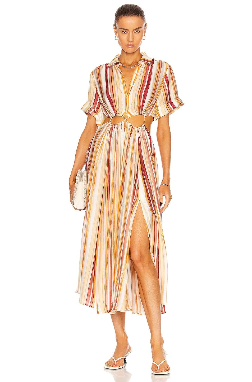 Image 1 of Cult Gaia Keegan Dress in Jasper Watercolor