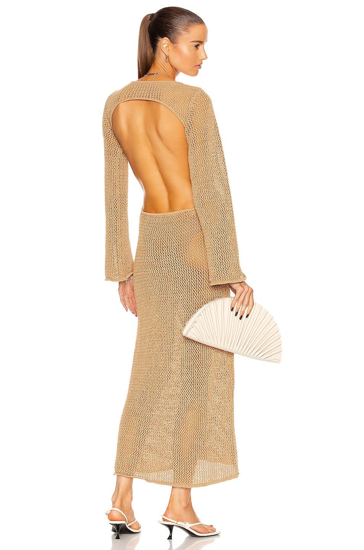 Image 1 of Cult Gaia Juliana Knit Dress in Sand
