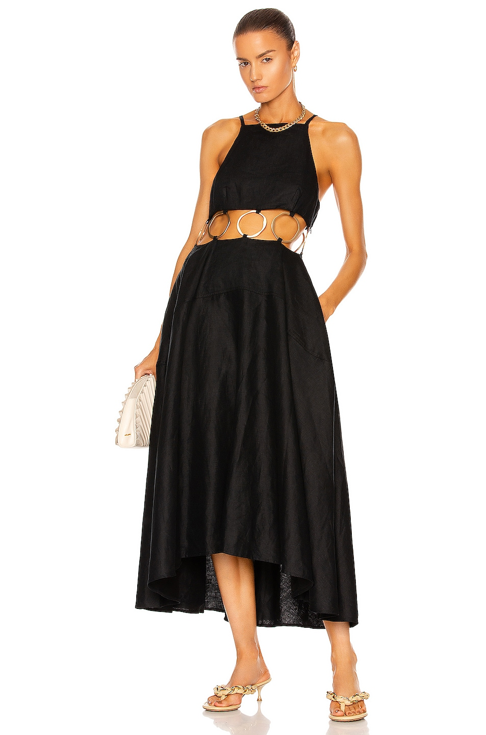 Image 1 of Cult Gaia Rory Dress in Black