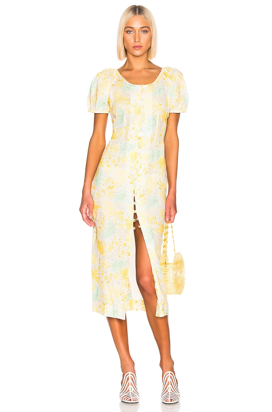 Image 1 of Cult Gaia Charlotte Dress in Lemonade Multi