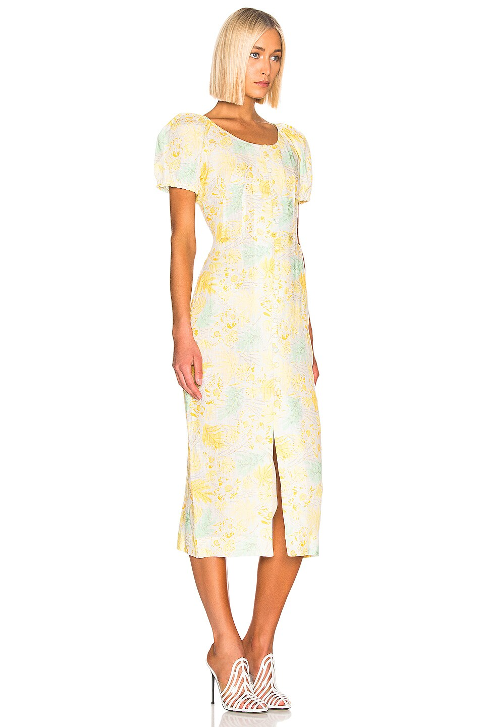 Image 2 of Cult Gaia Charlotte Dress in Lemonade Multi