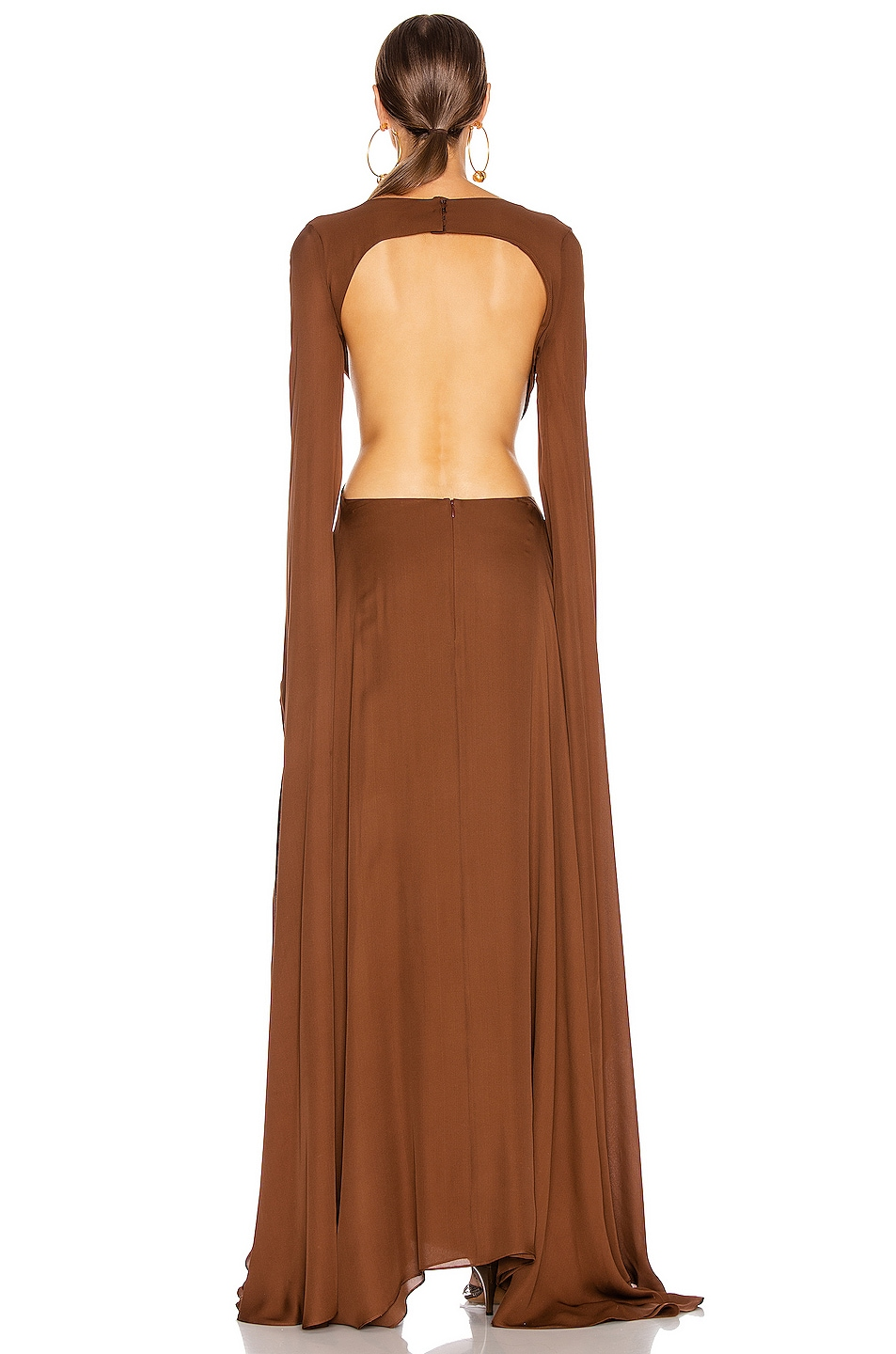 Image 3 of Cult Gaia Jasmin Cutout Gown in Palm