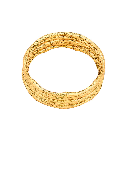 Image 1 of Cult Gaia Dahlia Bangle Set Bracelets in Gold