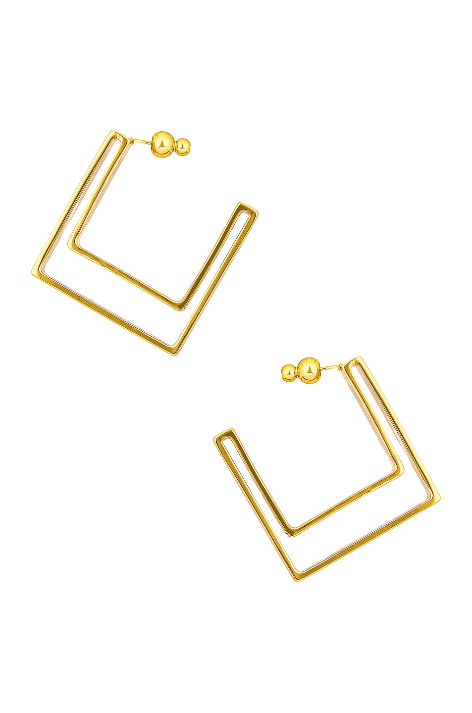 Image 1 of Cult Gaia Abie Earring in Gold Metallic
