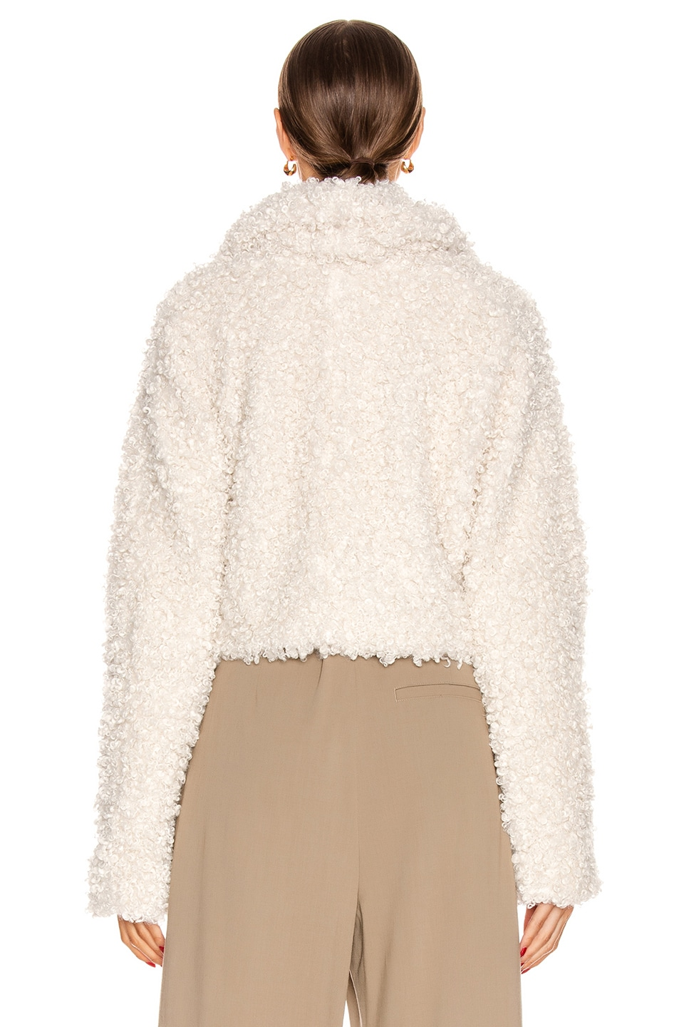 Image 3 of Cult Gaia Evie Faux Fur Jacket in Off White