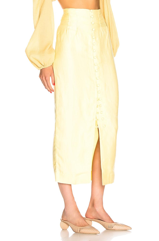 Image 2 of Cult Gaia Hera Skirt in Lemonade