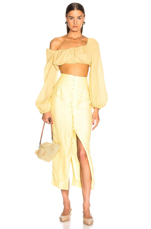 Image 4 of Cult Gaia Hera Skirt in Lemonade