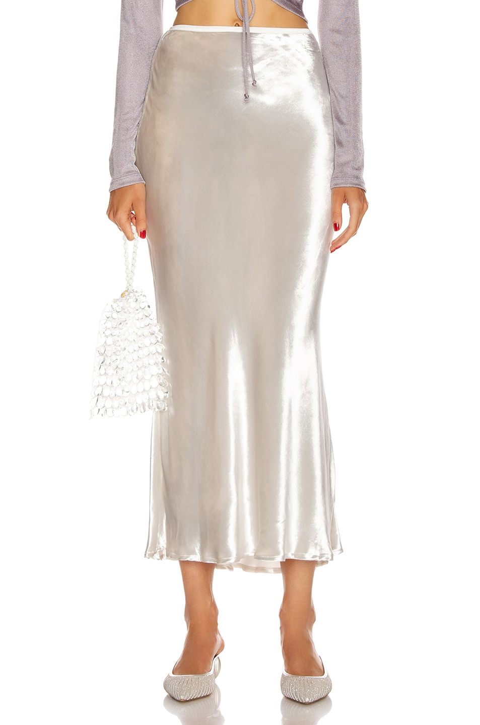 Image 1 of Cult Gaia Scarlet Skirt in Salt