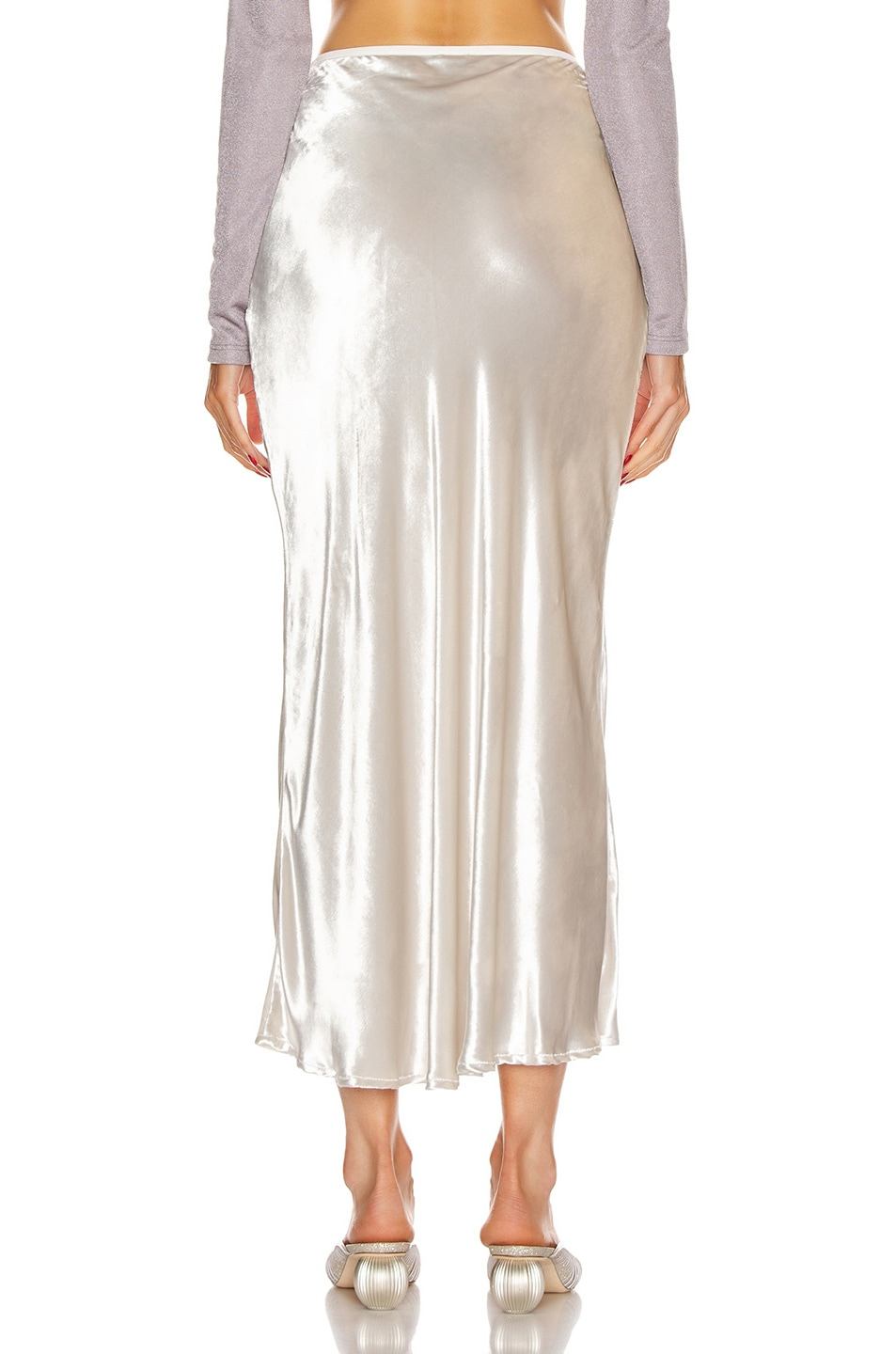 Image 3 of Cult Gaia Scarlet Skirt in Salt