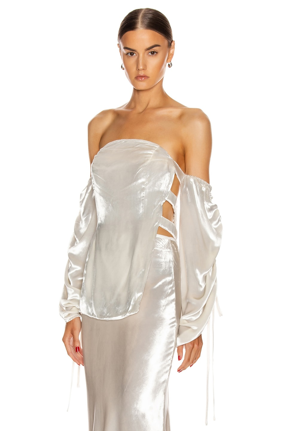 Image 1 of Cult Gaia Afra Top in Salt