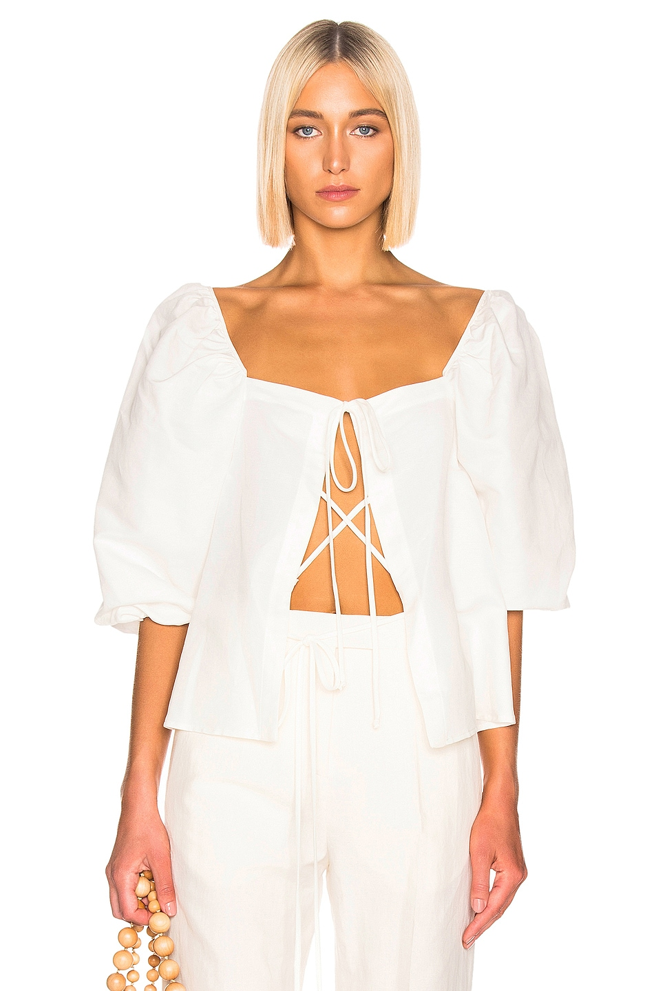 Image 1 of Cult Gaia Aurel Top in White