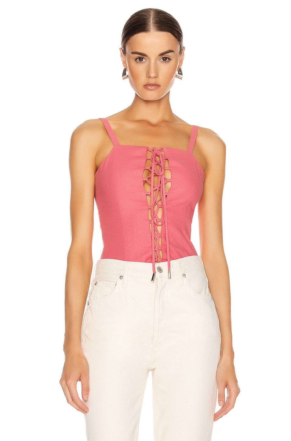 Image 1 of Cult Gaia Coryn Top in Bubblegum