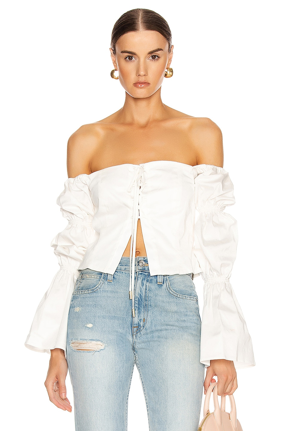 Image 1 of Cult Gaia Claire Top in White