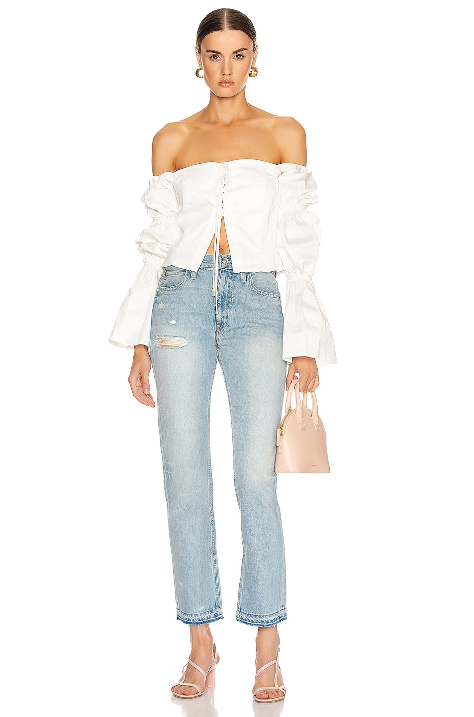 Image 4 of Cult Gaia Claire Top in White