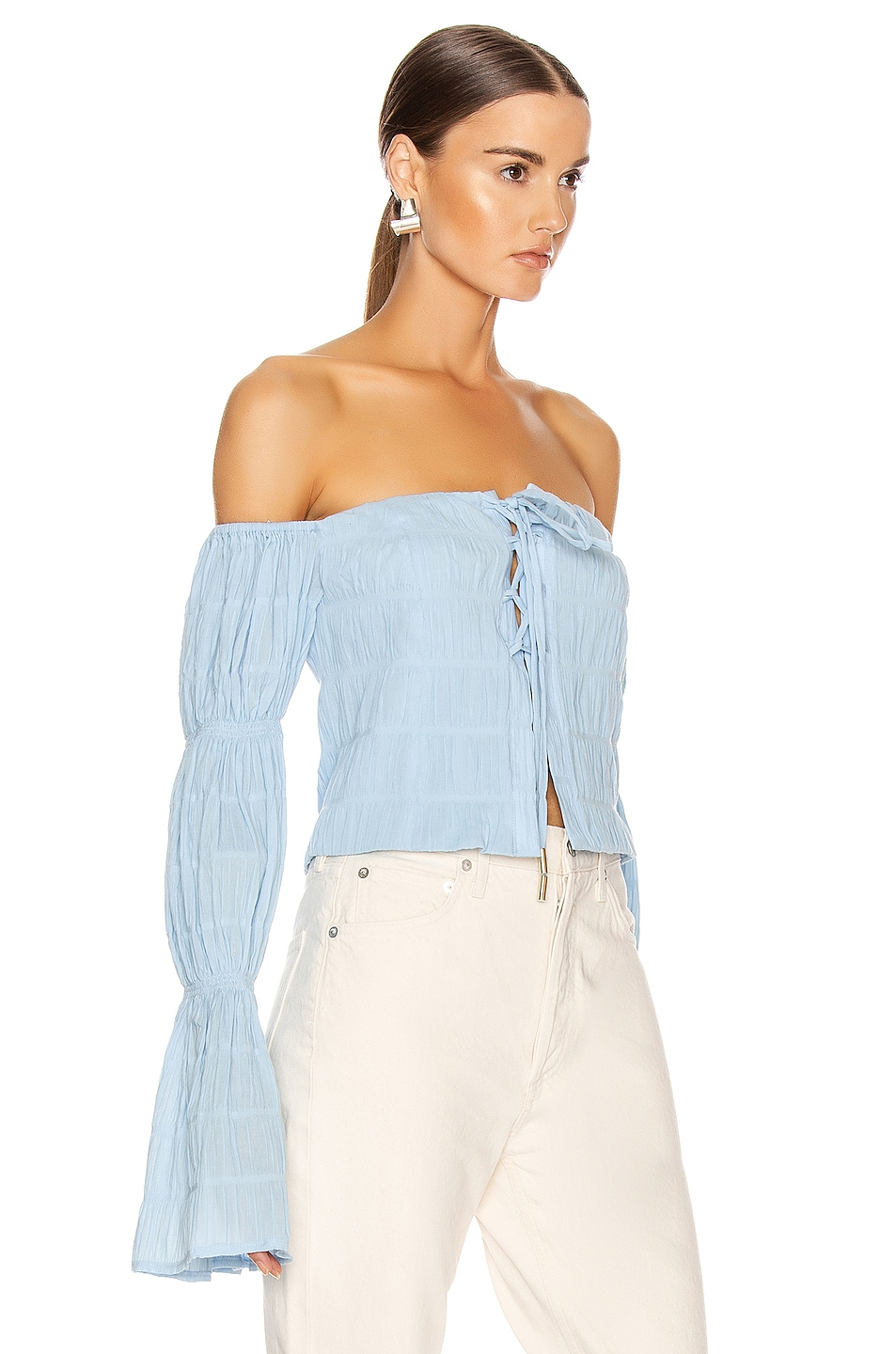 Image 2 of Cult Gaia Claire Top in Bluebell