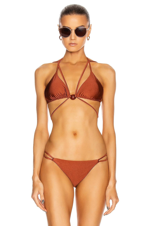 Image 1 of Cult Gaia Sloane Bikini Top in Dattero