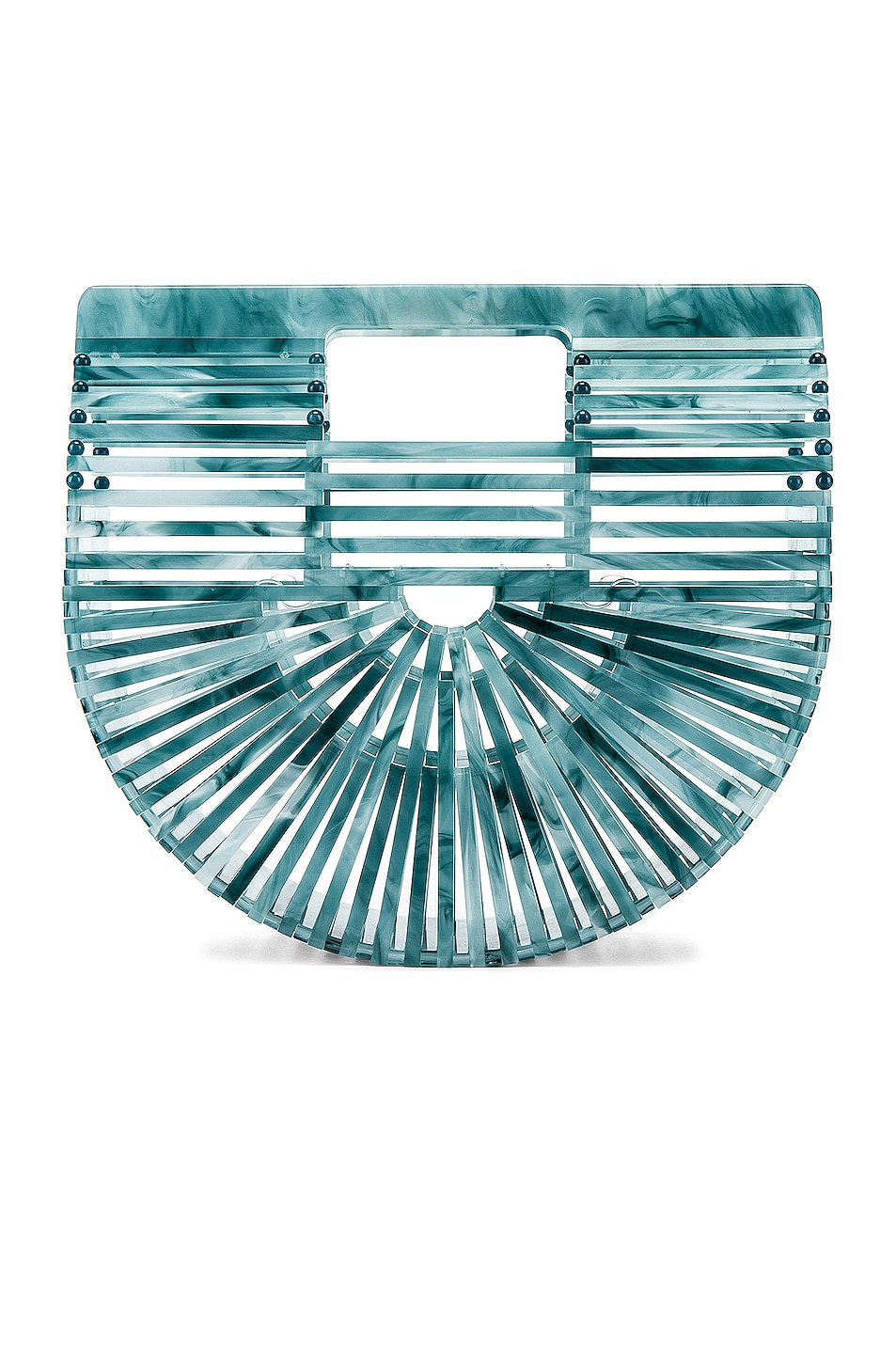 Image 1 of Cult Gaia Mini Acrylic Ark Bag in Azure