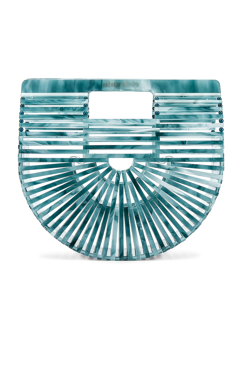Image 3 of Cult Gaia Mini Acrylic Ark Bag in Azure