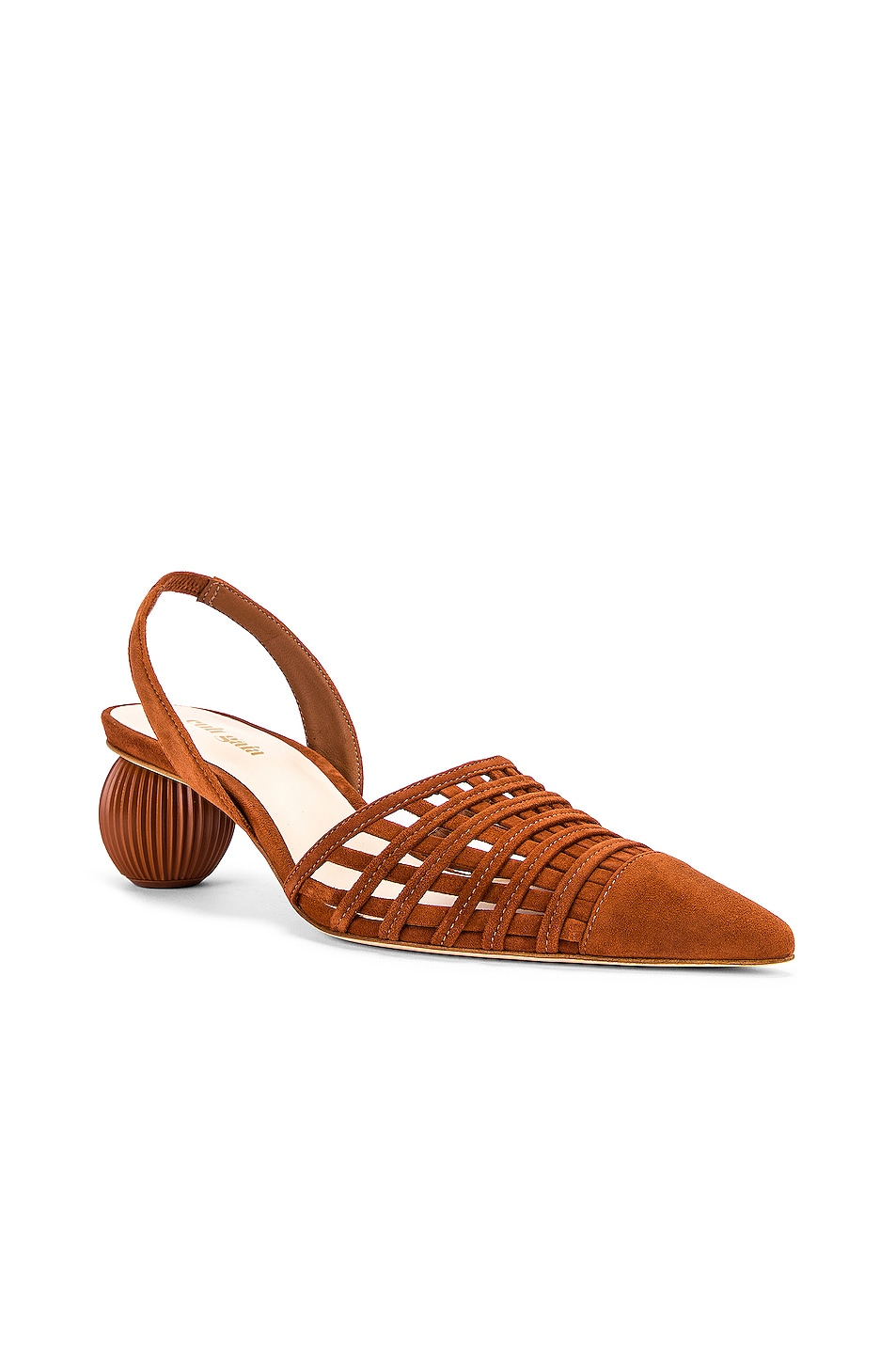 Image 2 of Cult Gaia Keri Slingback Heel in Nut