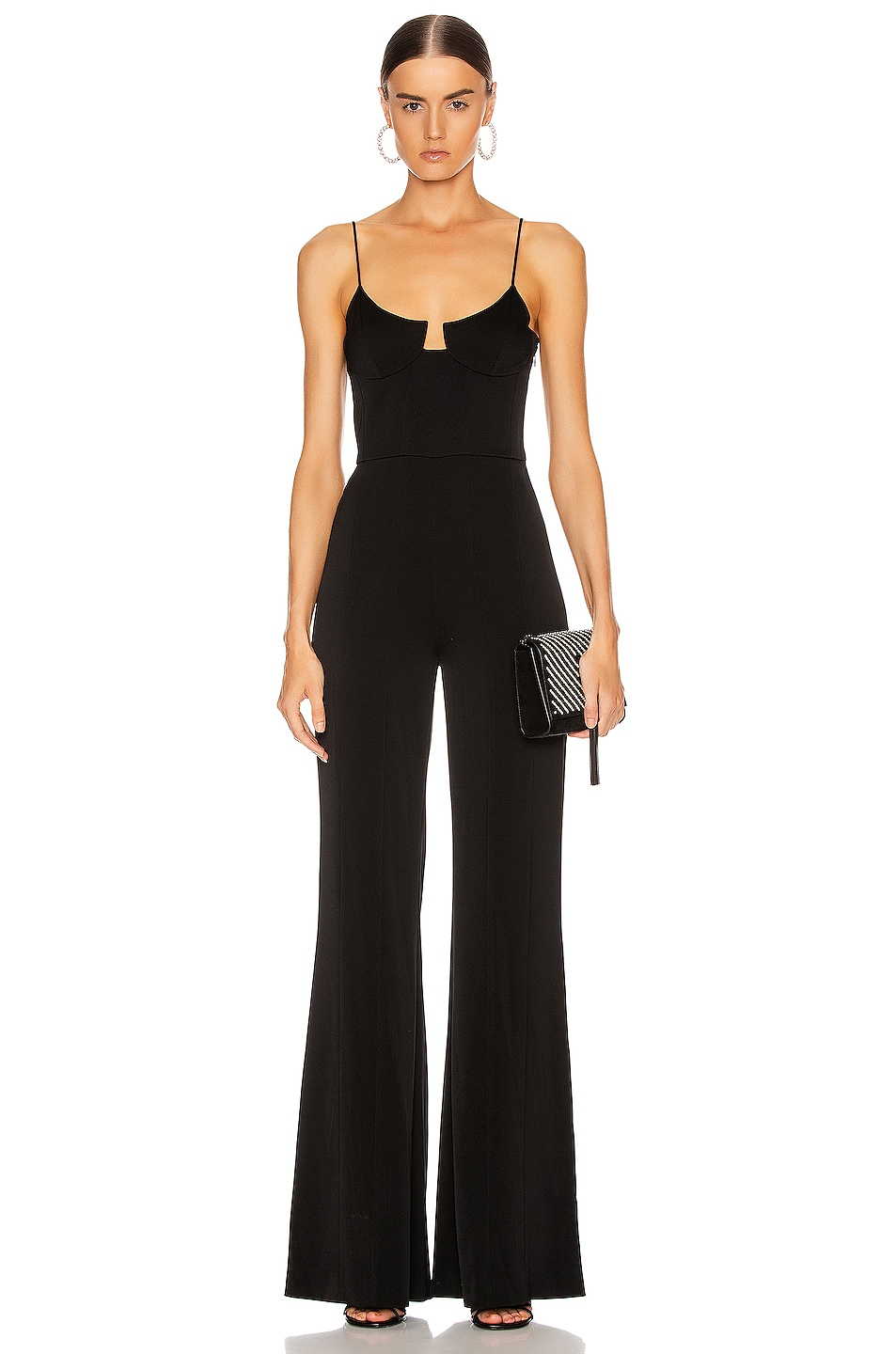 Image 1 of GALVAN Phoebe Jumpsuit in Black