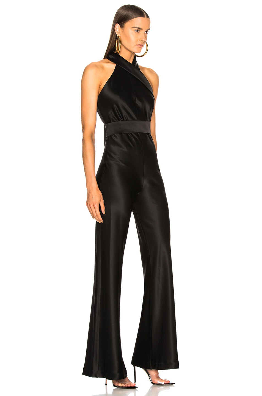 Image 2 of GALVAN Asymmetric Sash Jumpsuit in Black