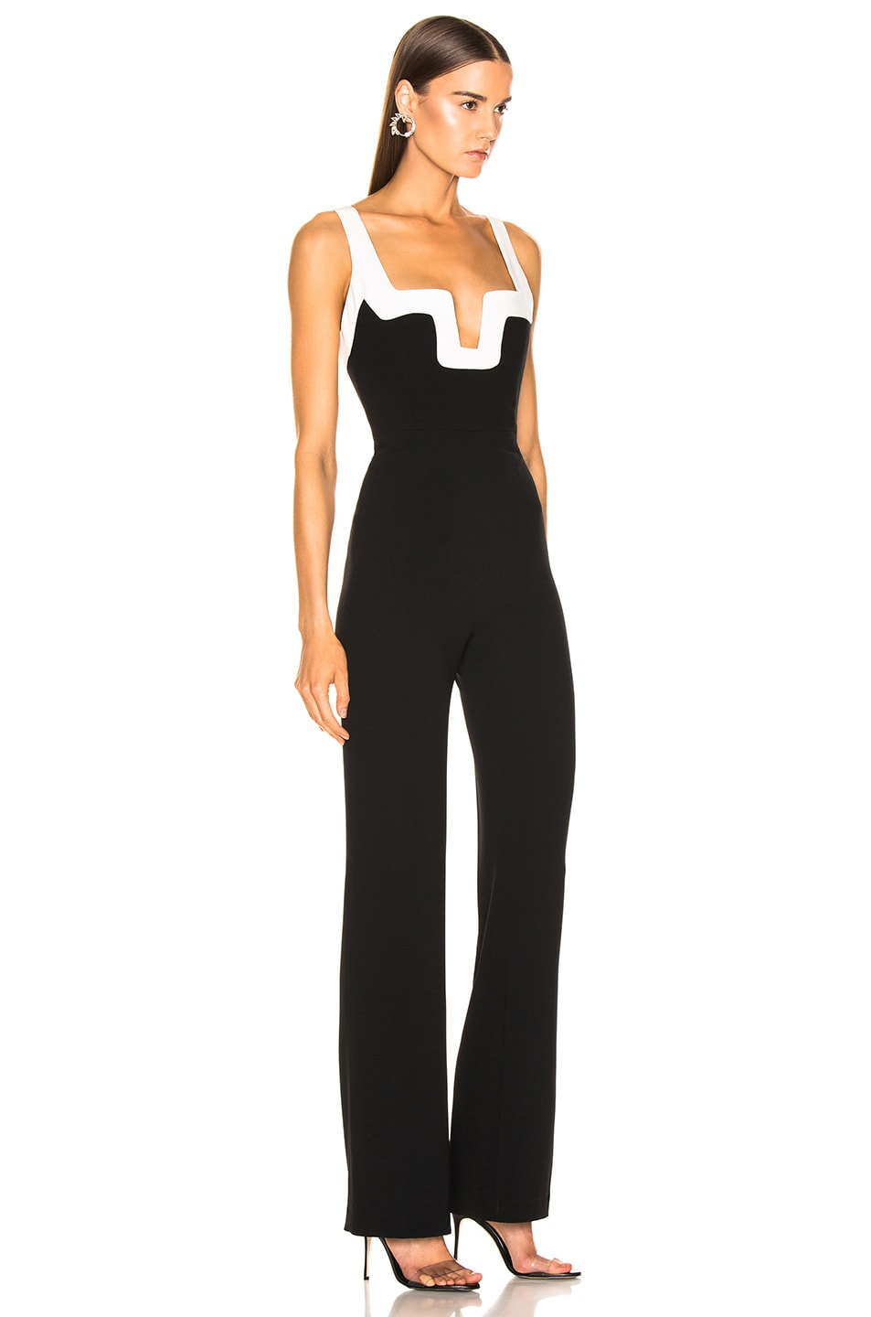 Image 2 of GALVAN Arabesque Jumpsuit in Black & White
