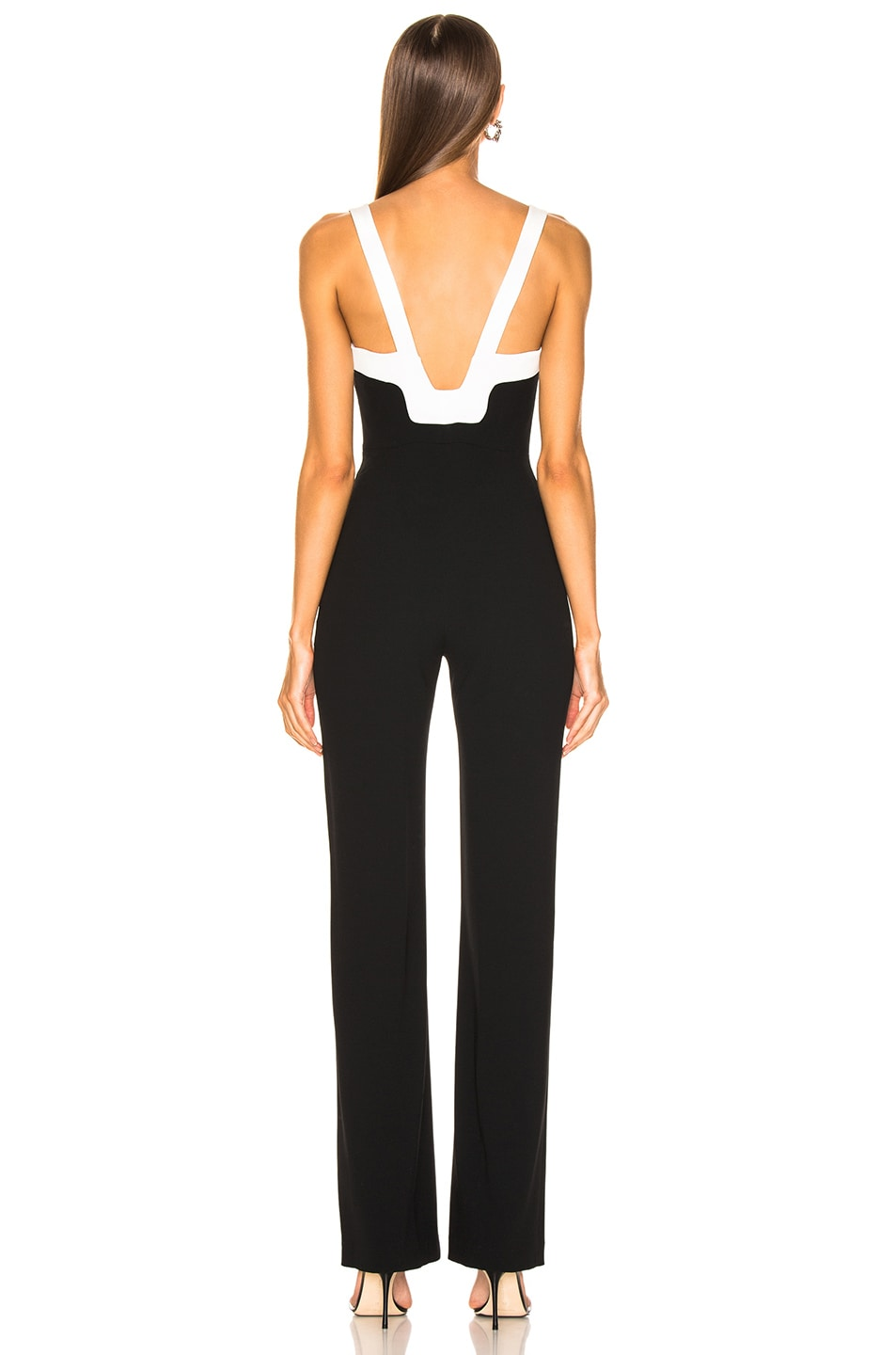 Image 3 of GALVAN Arabesque Jumpsuit in Black & White