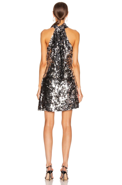 Image 3 of GALVAN Gemma Mini Dress in Silver