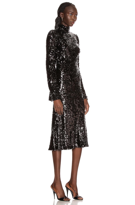 Image 3 of GALVAN Legato Dress in Black