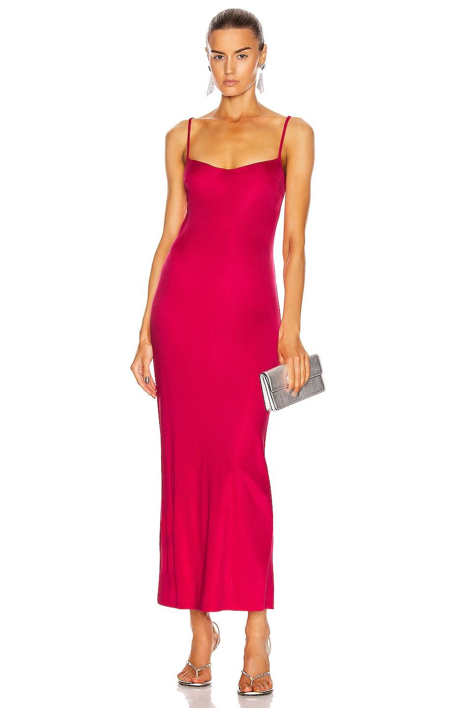 Image 1 of GALVAN Berlin Bustier Dress in Hot Pink