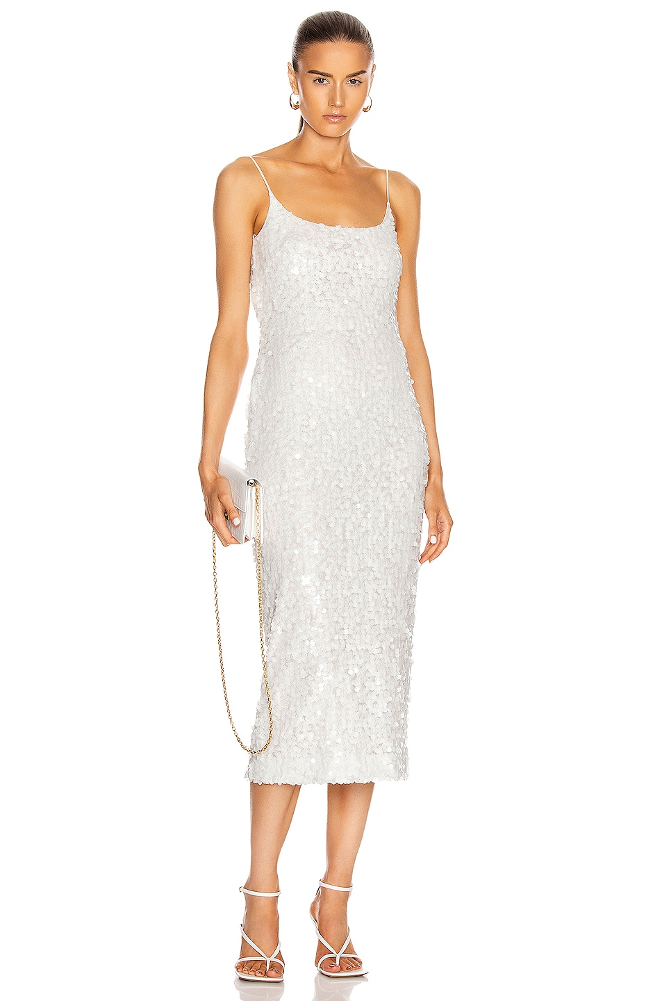 Image 1 of GALVAN Mykonos Dress in White