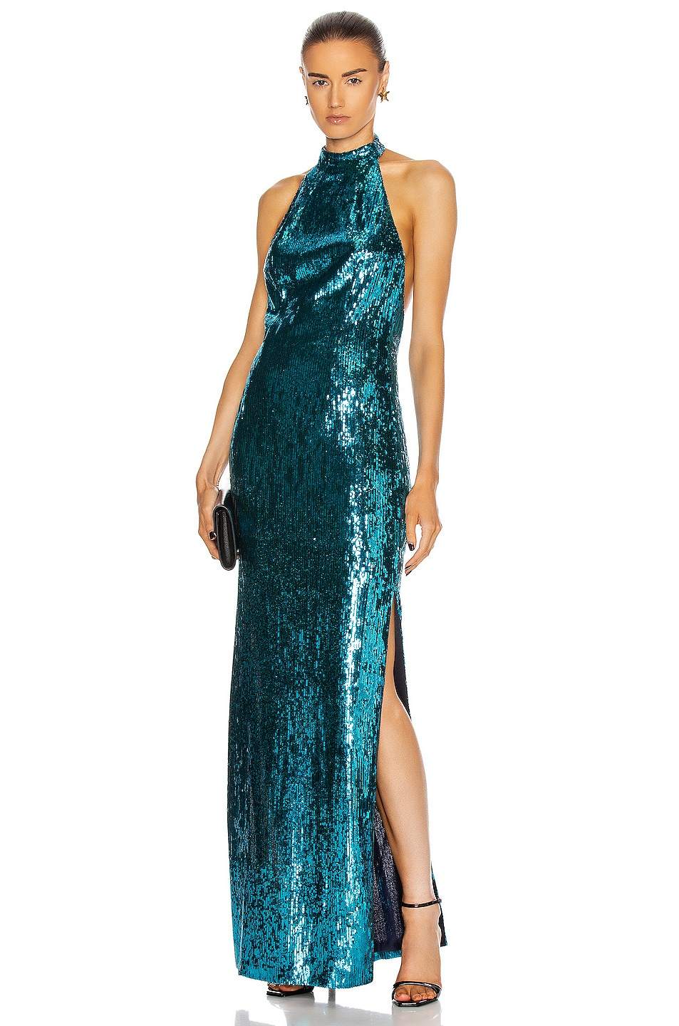Image 1 of GALVAN Oceana Dress in Turquoise