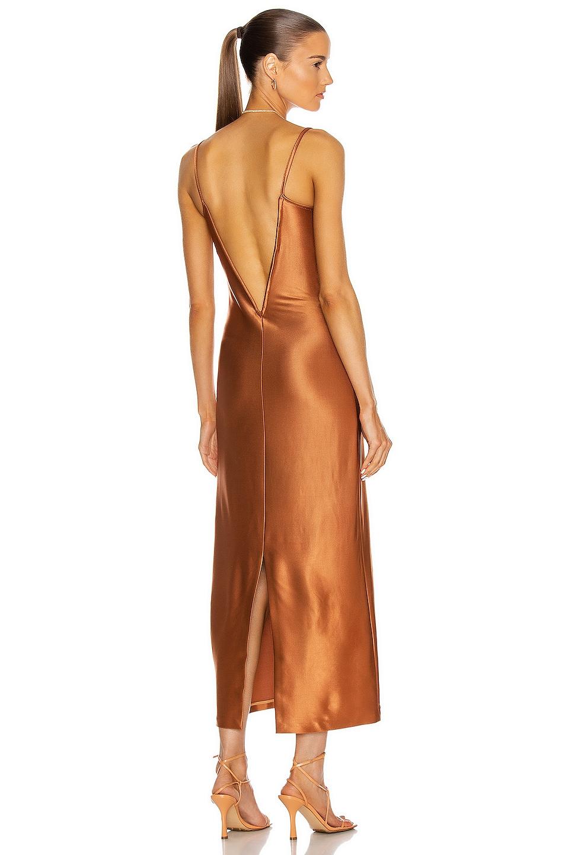 Image 1 of GALVAN Sahara Bustier Dress in Cinnamon