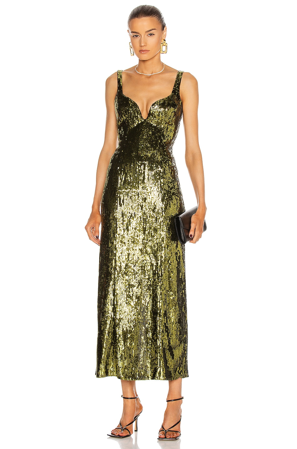 Image 1 of GALVAN Savannah Dress in Olive